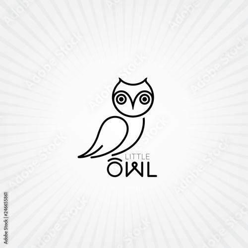 Fototapeta premium Ikona sowa wektor. Logo sowy