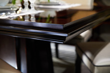 Lacquered Oak Wood Dining Table