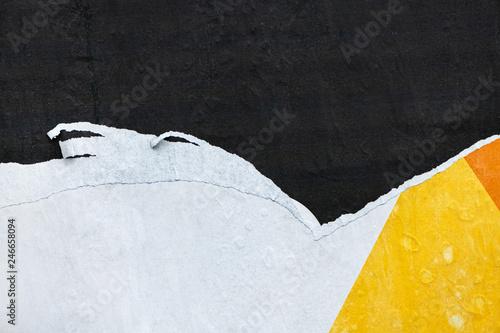 Fotografie, Obraz Torn ragged billboard poster paper texture