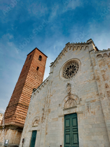 Old Facade Romanesque style of the cathedral of Pietrasanta Italia Wallpaper Mural