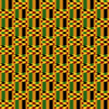 Kente Cloth Seamless Pattern - African Kente Cloth Repeating Pattern Design