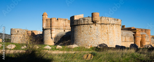 Staande foto Historisch geb. Towers and walls of Chateau de Salses