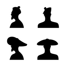 Human Head Silhouettes In Diff...