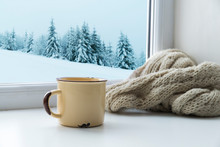 Winter Background - Cup With C...