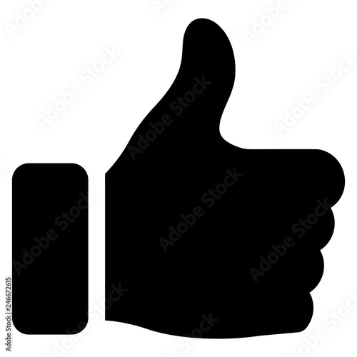 Photo gz305 GrafikZeichnung - german - Daumen hoch: english - thumbs up: simple templa