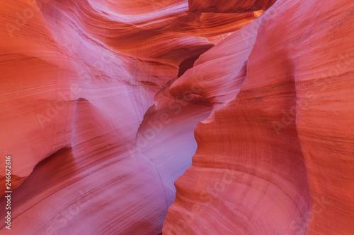 Fotobehang Rood Scenic Antelope Canyon Landscape