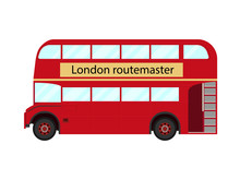 Red Double Decker Bus Symbol O...