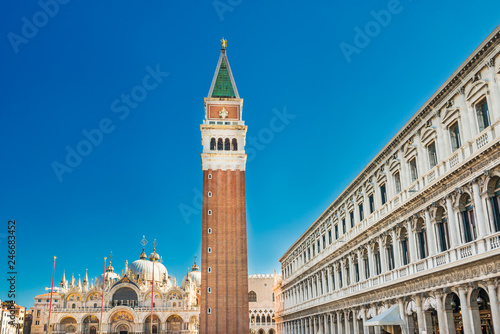 Fotobehang Centraal Europa San Marco square in Venice with bell tower
