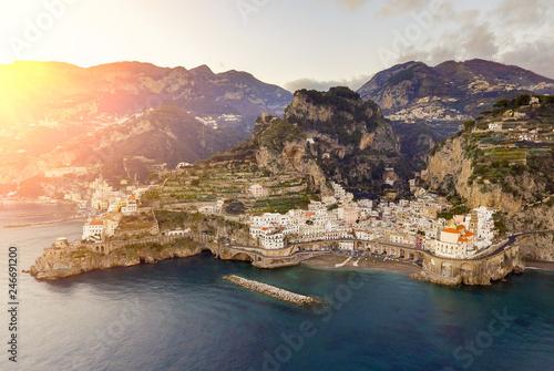 Photo Stands Coast Amalfi in Amalfi Coast, Italy