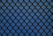 Old, Rusty, Chain-link Fence.