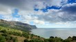 4K. Movement of the clouds on the mountain bay Aya. Crimea Russia TimeLapse