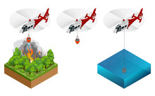 Isometric Helicopter Dropping ...