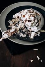 Salted Caramel And Chocolate Pavlova