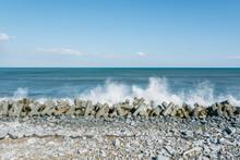 Concrete Wave Breakers Tohoku Coast