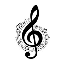 Music Notes In Swirl, Musical ...