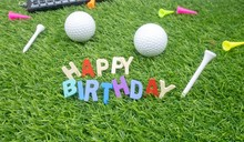 Happy Birthday To Golfer On Green Grass