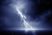 Lightning Storm 3d Rendering O...