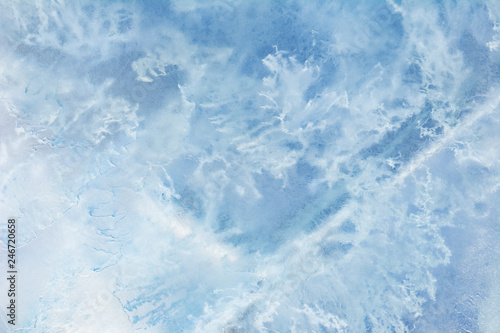 Foto auf AluDibond Himmelblau The texture of the ice. The frozen water.Winter background