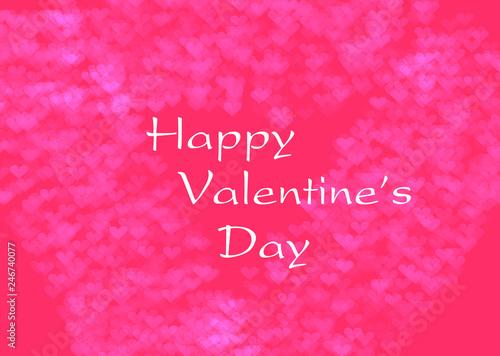 Fototapeta happy valentines day obraz na płótnie