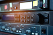 Sound technician control the music Professional audio.
