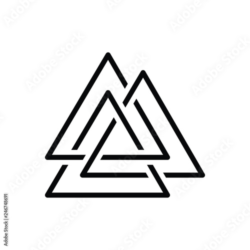 Photo  Black line icon for asgard logo