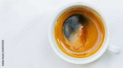 Coffee cup close up Wallpaper Mural