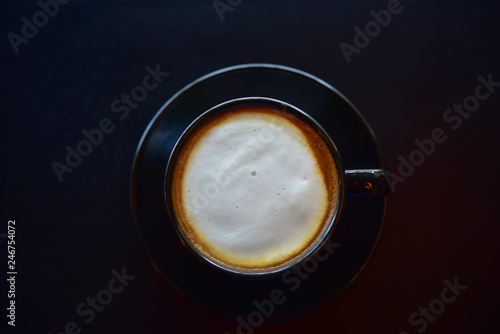 Wall Murals Cafe Coffee in a black cup