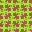 Macaque monkey pattern seamless. Animal mammal wildlife background vector