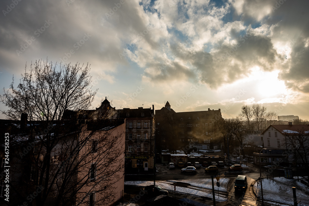 Fototapeta Mysłowice- Smog- zanieczyszczenie powietrza
