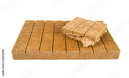Valokuva wood kindling briquettes isolated on white