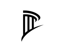 Pillar Logo Template. Column Vector Illustration