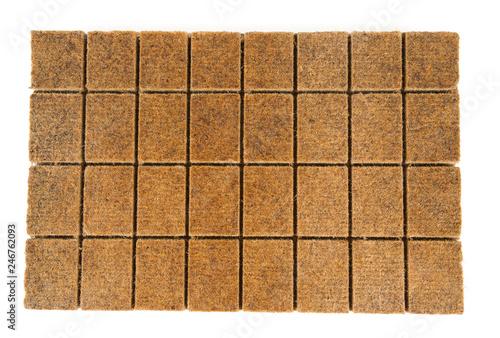 Obraz na plátně wood kindling briquettes isolated on white