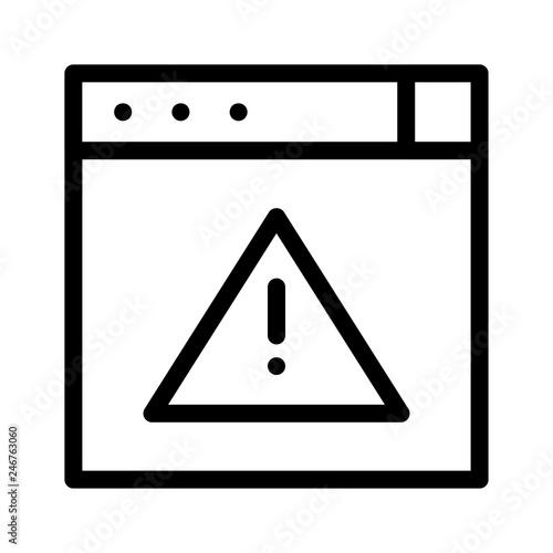 Fotografie, Obraz  exclamation   error   warning