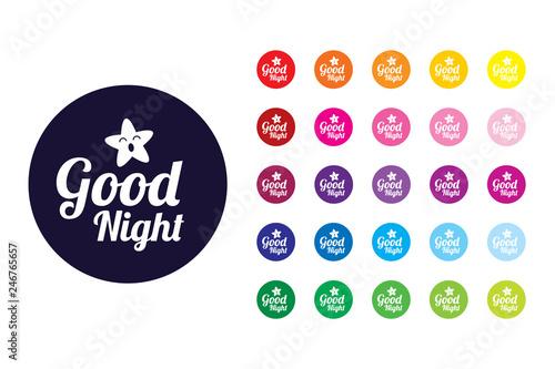 Pinturas sobre lienzo  Good Night sign icon. Good Night color symbol.