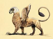 Mystical Creature Griffin. Acr...