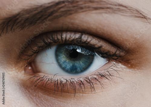 Fotografiet close up of human eye