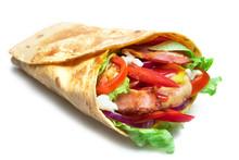 Shawarma Sandwich Isolated On ...