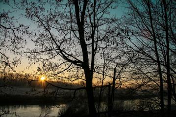 Winterlandschaft an der Ruhr