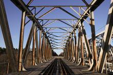 Old Metal Railroad Bridge Cons...