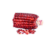 Red Corn On A White Background