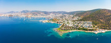 Panoramic Aerial View Of Sunny...