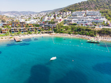 Aerial View Of Sunny Bodrum Wi...