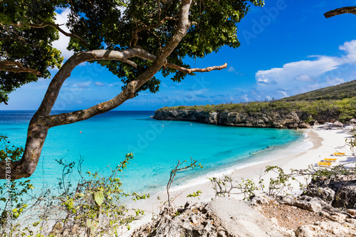 Photo The pristine Grote Knip beach on the tropical Island of Curacao