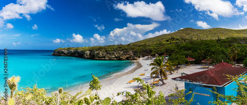 The pristine Grote Knip beach on the tropical Island of Curacao Wallpaper Mural
