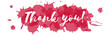 Thank You on watercolor background red