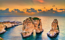 Raouche Or Pigeons Rocks In Be...