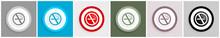 No Smoking Icon Set, Vector Il...