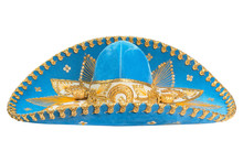 Blue Mexican Hat Isolated On White