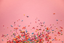 Colorful Sprinkles Scattered O...