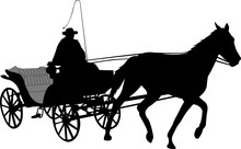 Vintage Carriage Silhouette 2